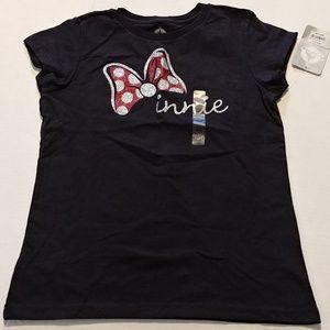 Disney Shirts & Tops - 5/$20 in bundle Minnie black & red glitter t-shirt